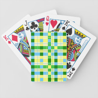 Green and Yellow Plaid Poker Deck
