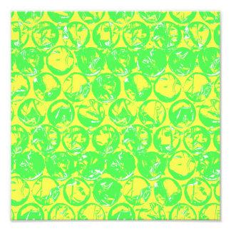Green and yellow pop art bubble wrap photo art