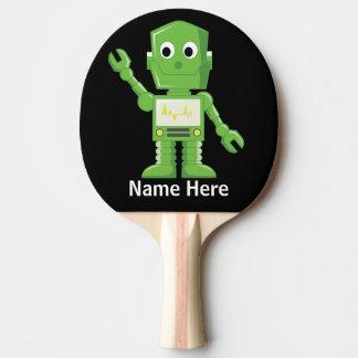 Green and yellow Robot Ping Pong Paddle