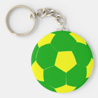 Green and Yellow Soccer Ball Keychain