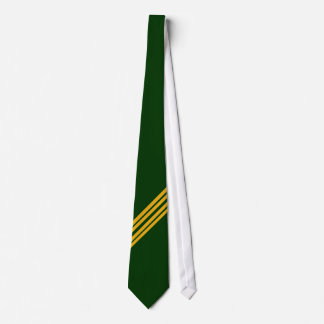 Green and yellow stripe - tie
