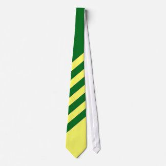 Green and Yellow Striped Tie