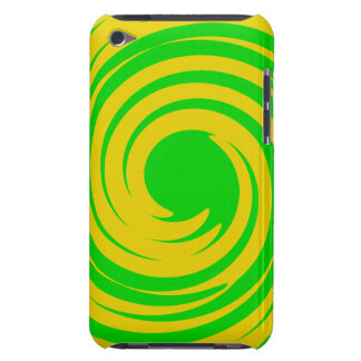 Green and yellow swirl barely there iPod cover
