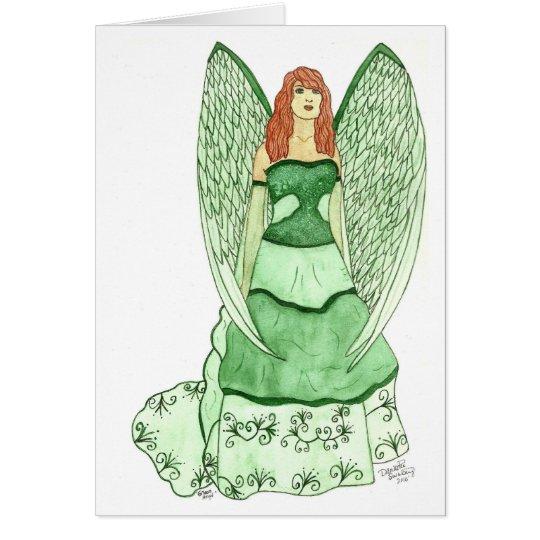 Green Angel Notecard