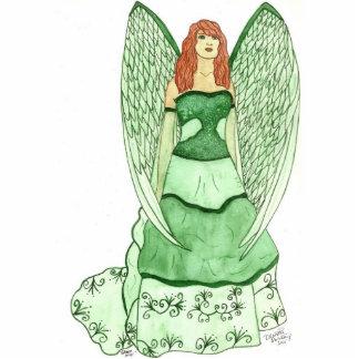Green Angel Sculpture Standing Photo Sculpture