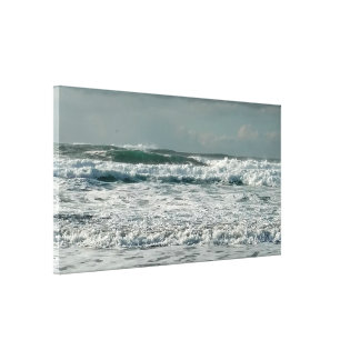 Green Angry Ocean Photograph wrapped canvas