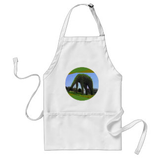 Green Animal Design in Park Adult Apron
