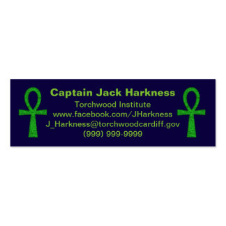 Green Ankh Profile Card Mini Business Card