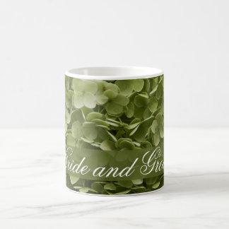 Green Annabelle Hydrangea Floral Wedding Classic White Coffee Mug