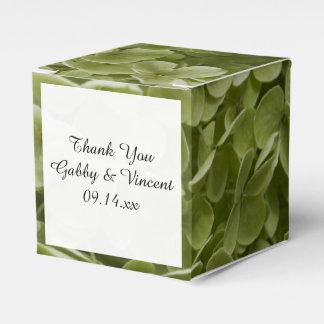 Green Annabelle Hydrangea Floral Wedding Favor Box