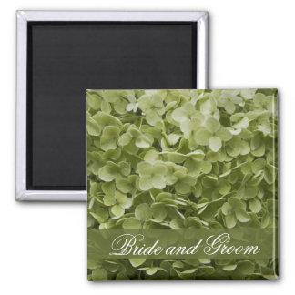 Green Annabelle Hydrangea Floral Wedding Magnet