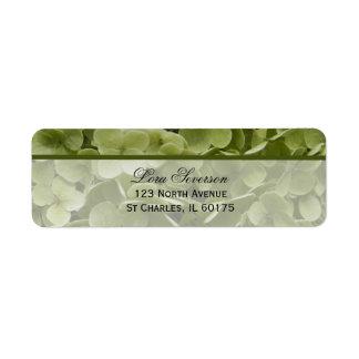 Green Annabelle Hydrangea Flower Return Address