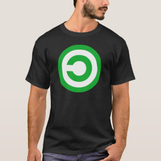 Green Anti-Copyright Copyleft Public Domain Symbol T-Shirt