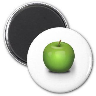 Green Apple 2 Inch Round Magnet