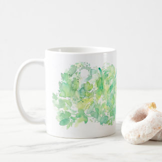 Green Apple Abstract Watercolor Coffee Mug