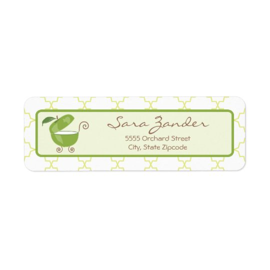 Green Apple Baby Carriage Address Label