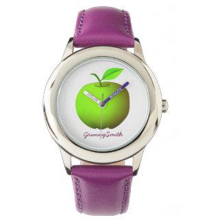 Green Apple Beautiful Nature Granny Smith Purple Watch