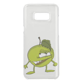 Green apple cartoon character with a vicious smile uncommon samsung galaxy s8 plus case