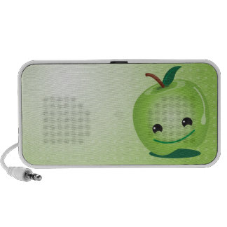 Green apple cute speakers
