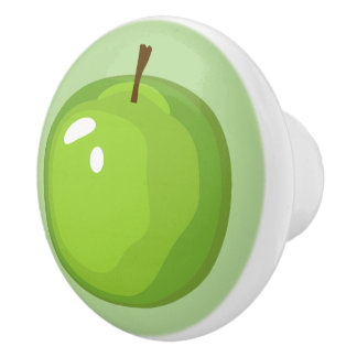 Green Apple Kitchen Knob