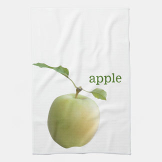 Green apple kitchen towel