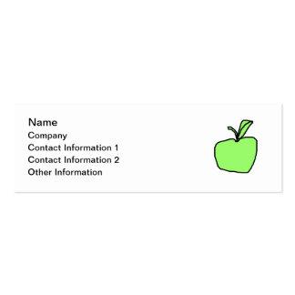 Green Apple. Mini Business Card