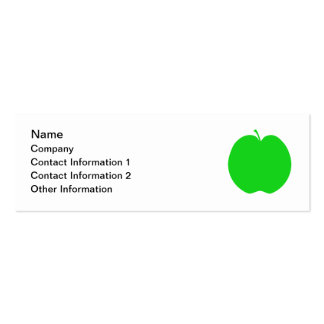 Green Apple. Mini Business Card