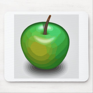 Green apple mouse pad