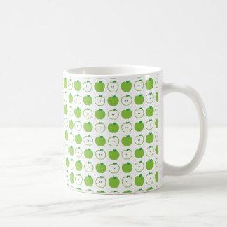 Green Apple Pattern Coffee Mug