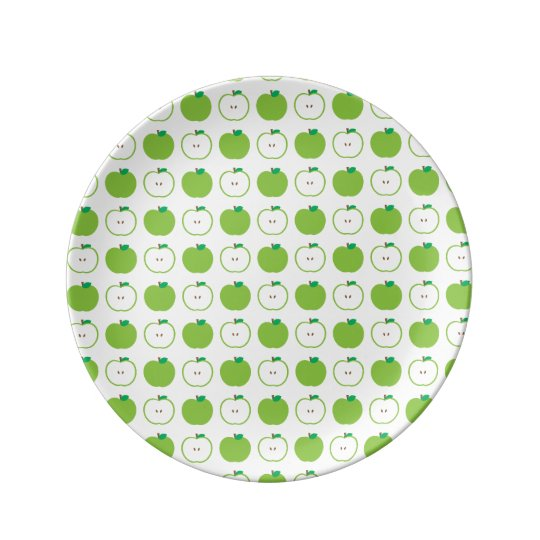 Green Apple Pattern Decorative Porcelain Plate