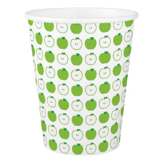 Green Apple Pattern Paper Cup