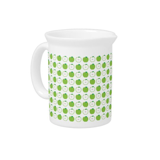Green Apple Pattern Pitcher