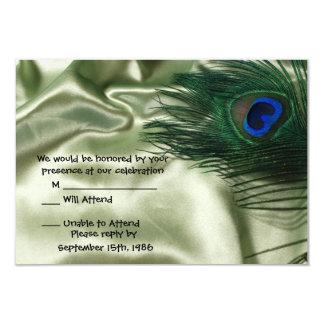 Green Apple Peacock Sill Life RSVP Card