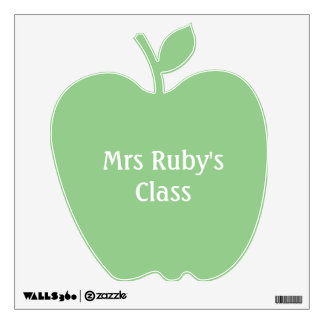 Green Apple Personalized Door or Wall Decal