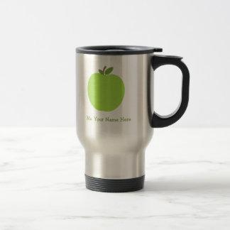 Green Apple Personalized Teacher Travel Mug