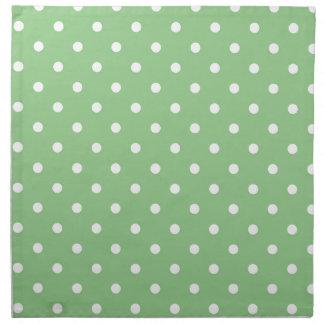 Green Apple Polka Dot Napkin