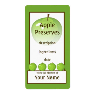 Green Apple Preserves Label Shipping Label