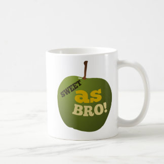 Green apple SWEET AS BRO Coffee Mug