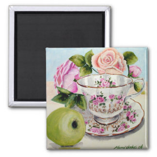Green Apple & Tea Magnet