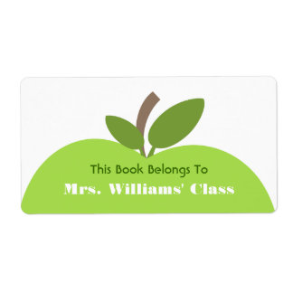 Green Apple Teacher Bookplate For Classroom