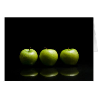 Green Apple Trio Card