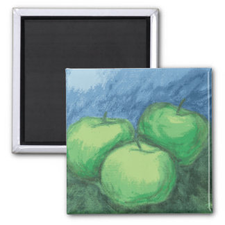Green Apples in Oil Pastels Magnet
