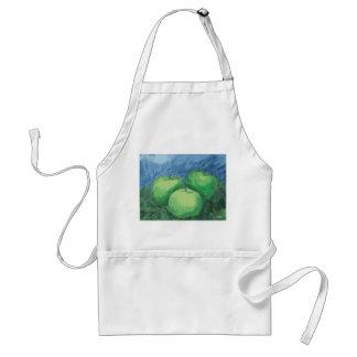 Green Apples in Oil Pastels Standard Apron