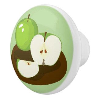 Green Apples Kitchen Knob