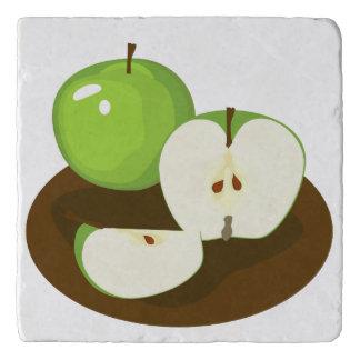 Green Apples Marble Stone Trivet
