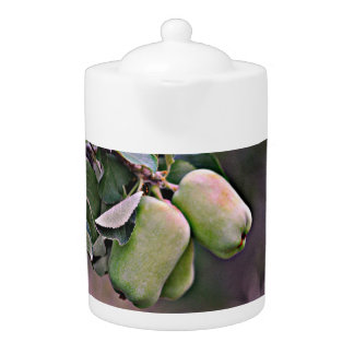 Green Apples Tea Pot