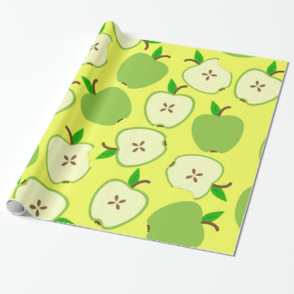 Green apples wrapping paper