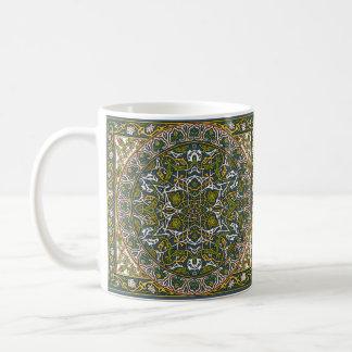 Green Arabesque Medallion Mug