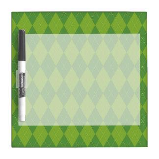 Green Argyle Dry-Erase Whiteboard