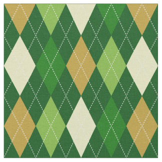 Green Argyle Fabric